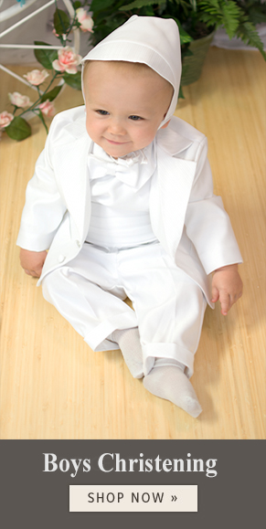 boys baptism suits & rompers